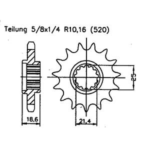 Sprocket Kymco KXR 250 Maxxer MXU 250 - 300,  Mongoose...