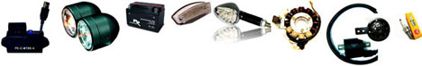 Elektrik, CDI, ECU, Anlasser, Relais, Lichtmaschinen, Regler, Zündspulen, Blinker, Beleuchtung, Tuning