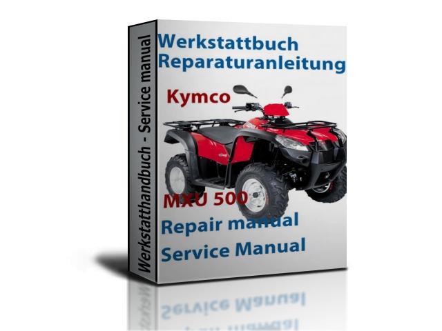 kymco mxu 500 atv service repair manual zip