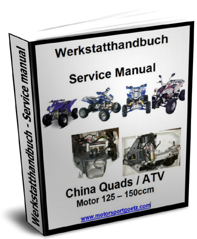 werkstatthandbuch reparaturanleitung motor china quad atv 125 150 14 99 gbp. Black Bedroom Furniture Sets. Home Design Ideas