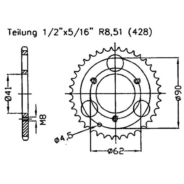 ESJOT X-ring 520 Chaîne Pignon Chain Dual Kettenkit HONDA CRF CR 250 450 500