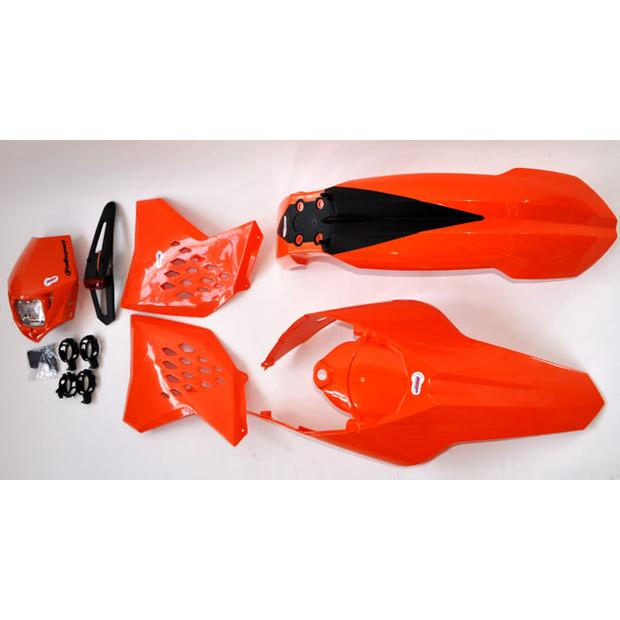 Enduro Replika Plastik Kit KTM EXC orange