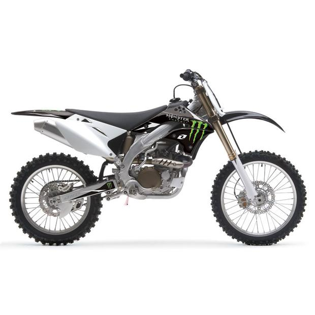 Replika Plastik Kit Kawasaki KX450F from 2009 black