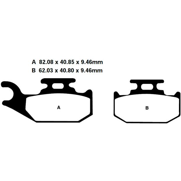 Brake pads Bombardier DS650 Traxter Outlander Quest right...