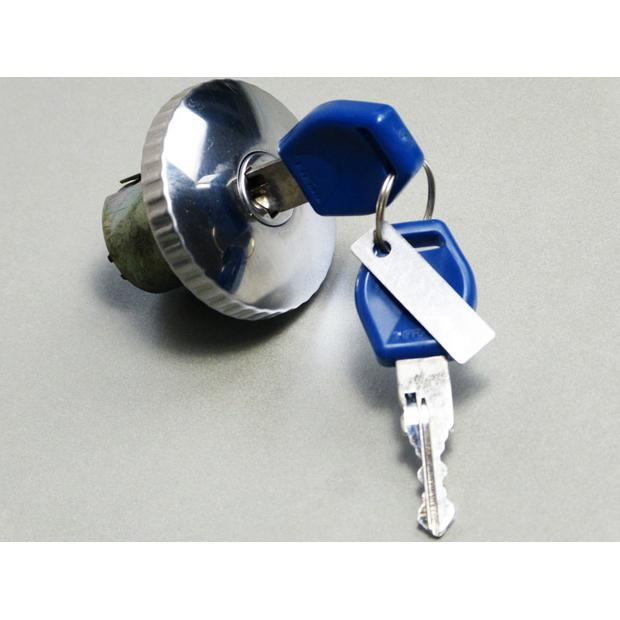 Fuel Tank Cap with bajonet-locker chrome lockable with key