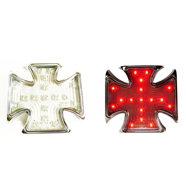 Tail light iron-cross LED with license light