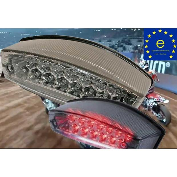 LED taillight Monster clear lens motorcycle
