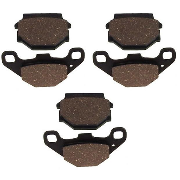 3x Brake pads EBC Dinli DL450RS DL901 06-09 rear and front
