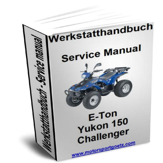 Part book E-Ton Yukon 150, Challenger Quad ATV on CD