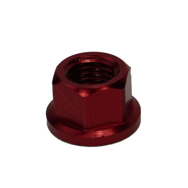 Nut aluminium scooter front axle M12x1,5 red