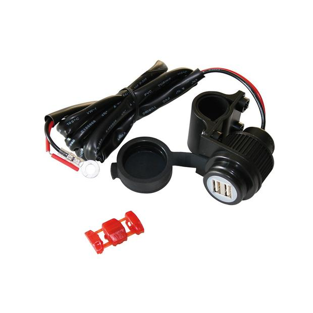 2-port USB socket illuminated Motorbike