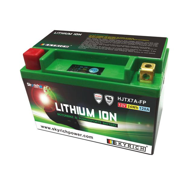 Battery Lithium Ion YTX7A-BS / LITX7A Motorcycle ATV...
