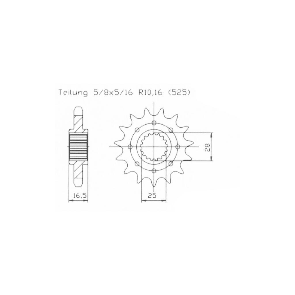 Stahl Ritzel KTM Adventure 640 LC4 Bj.2006  520er 16 Zähne