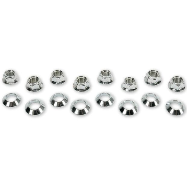 Lug nuts flat include tapered bushings for Quad ATV UTV