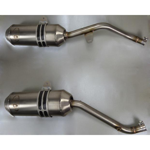 2x Exhaust Honda NX 650 Dominator 88-96 with e-mark in...