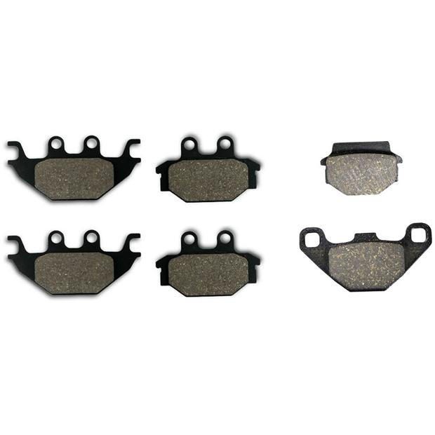 3x Brake pads Dinli Evo 800 front and rear