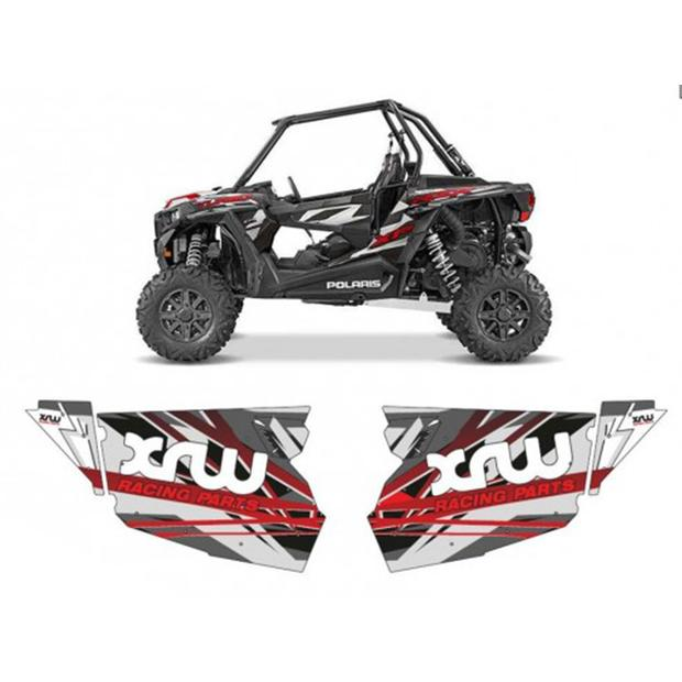 Door panel graphics grey Polaris RZR 1000XP