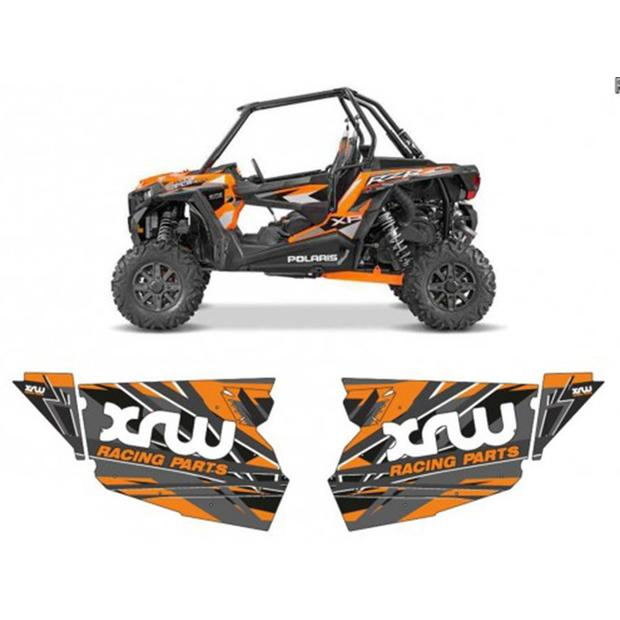 Door panel graphics orange Polaris RZR 1000XP