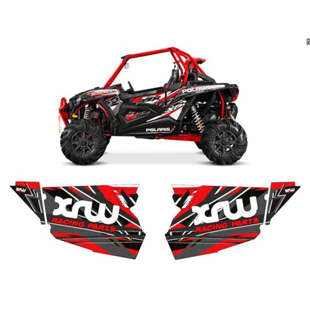 Door panel graphics red Polaris RZR 1000XP