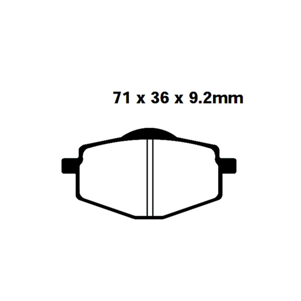 Bremsbelag EBC Yamaha DT 125 R//RE//X vorne