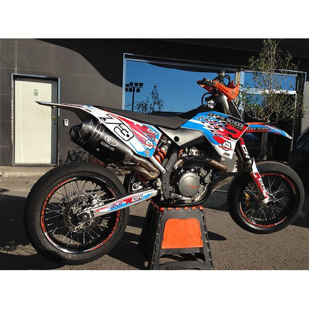 Exhaust for KTM SMR 450 08-15 double silencer