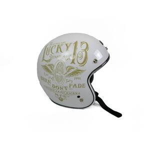 Helm Jet Origine Primo Flying Wheel White