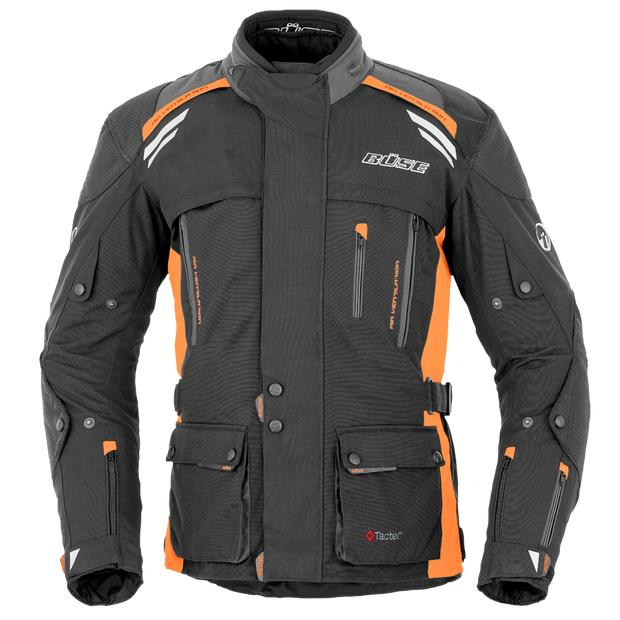 Büse Jacke Highland schwarz-orange