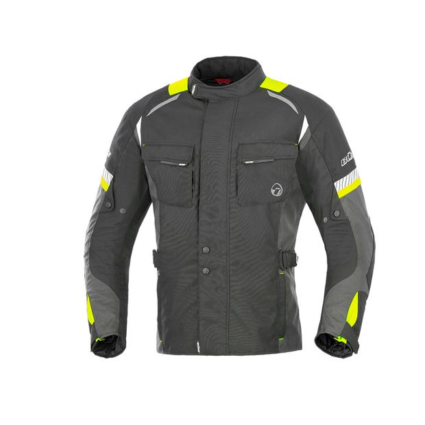 Buese Jacket Breno in black-neon yellow