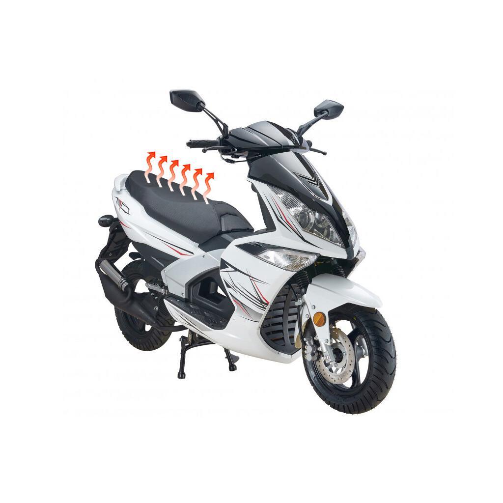 2-Stufen mit LED Schalter Wasserfeste Sitzheizung Heizmatte Matte f/ür Moped Roller Motorrad Quad
