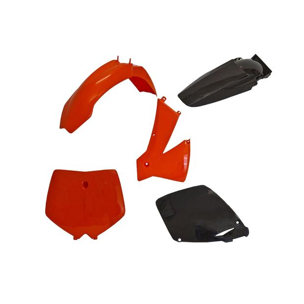 Replika Plastik Kit KTM 125 / 250 / 450 / 525 SX (01-02) EXC (03) orange/schwarz