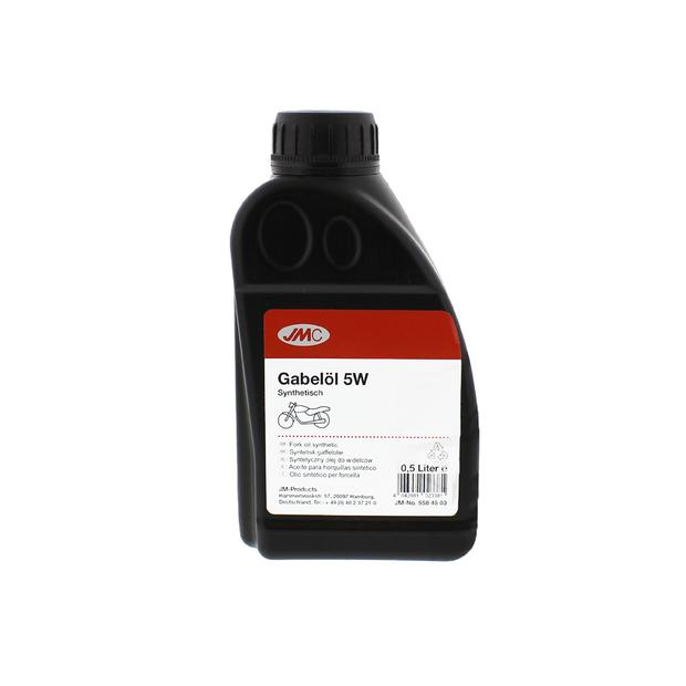 Fork oil synthetic SAE 5W in 0.5 liter can