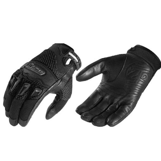 Glove Icon Twenty Niner Leather Textile for Motorcycle...