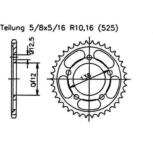 page 230 1982 Kawasaki GPZ rear sprocket honda xl 1000 v varadero 42 teeth