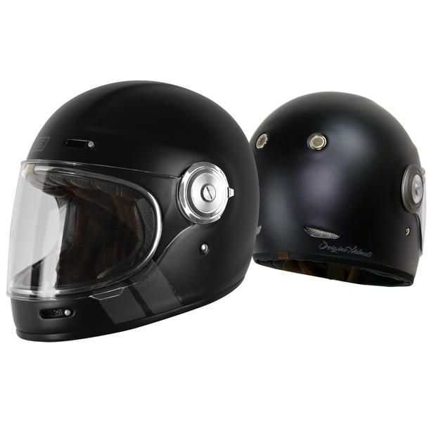 Origine Vega Stripe Black Retro Integral Helmet