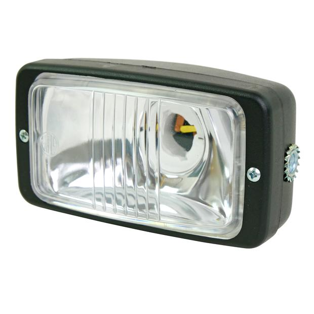 Headlight rectangle small clear 116x66mm