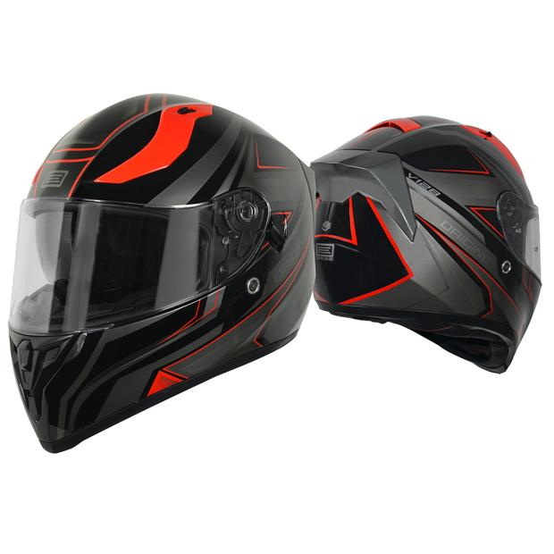 Helmet Origine Strada Graviter black and red with sun visor