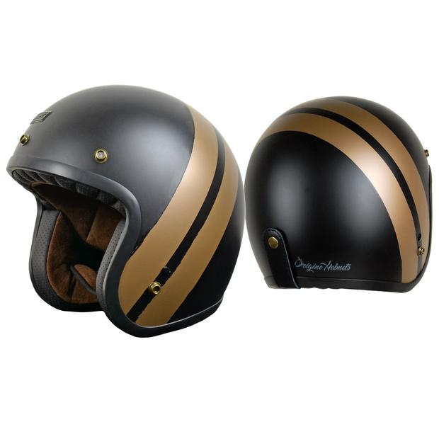 Helm Jet Origine Primo Jack Matt Bronze-Black