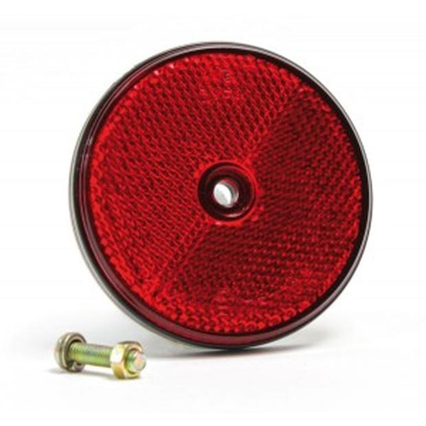 Reflectors round red