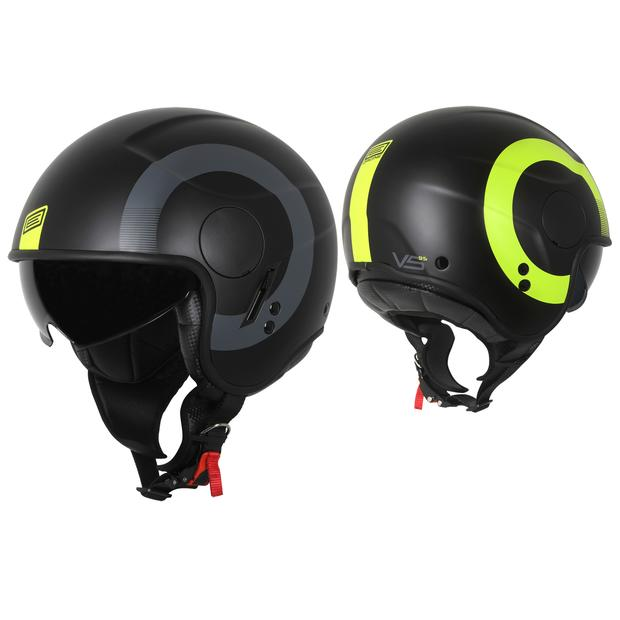 Helm Jet Origine Sierra Round Matt Fluo Yellow-Black