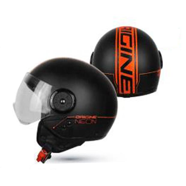 Jet Helmet  Origine Neon Street Orange