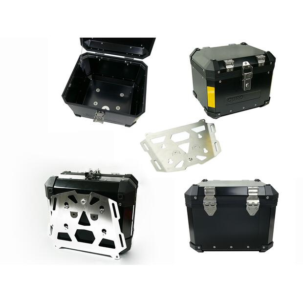 Topcase aluminum Quad ATV 33liter black universal with...