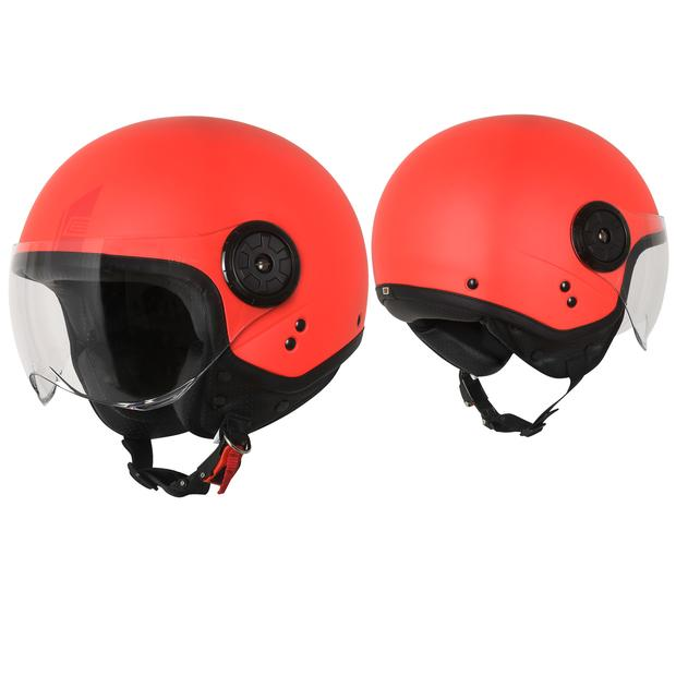 Jet Helm Origine Neon Easy Matt Fluo Red