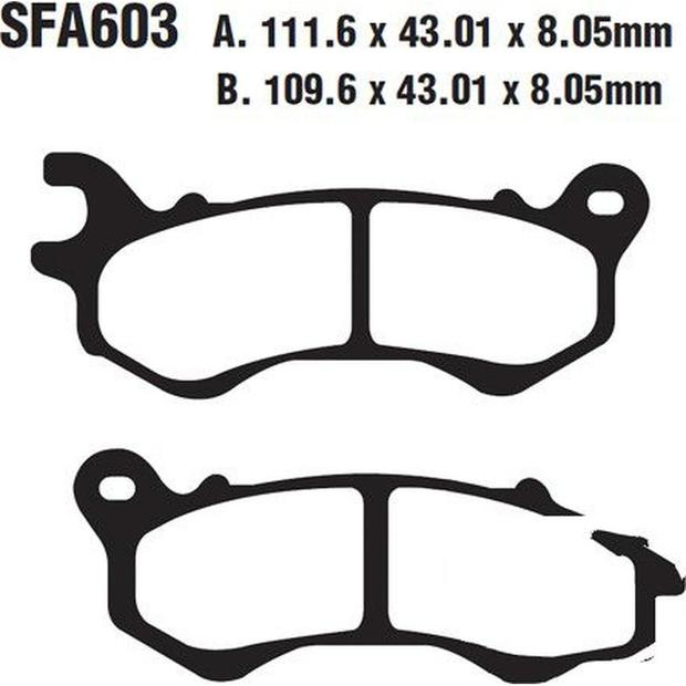 Brake pads EBC Kymco Agility/People 125 front