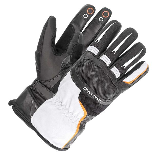 Büse Glove Open Road Touring light gray-orange