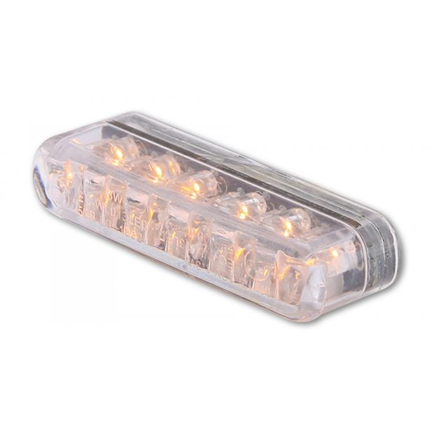 Turn signal LED mini clear Shorty E-approved pair of...