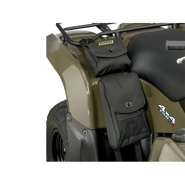 Black fender bag ATV Quad universal