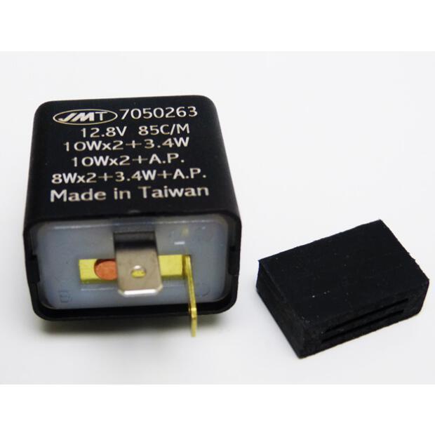 KOSO 3-Pin Universal Blinkrelais Blinkerrelais 12V LED Blinker