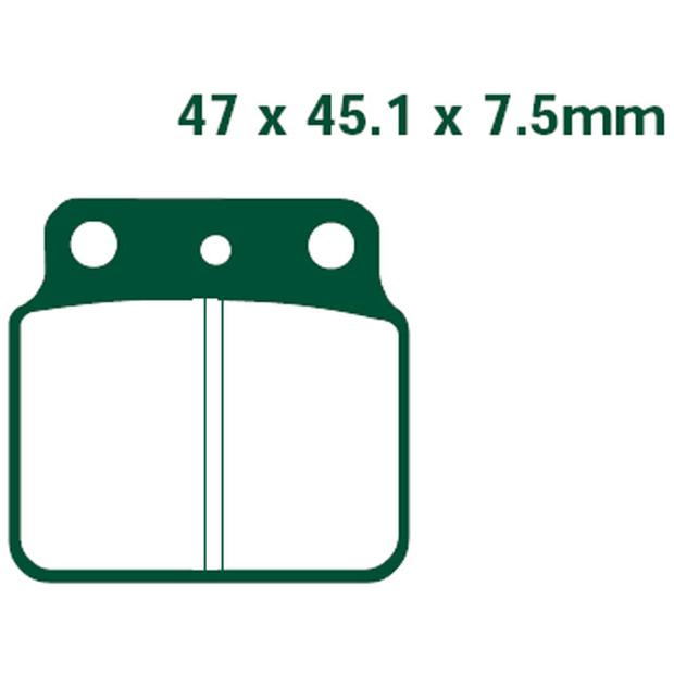 Brake pads rear LTZ 400 - Kawasaki KFX 400, Arctic Cat...
