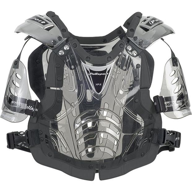 Chest Protector XP2 for adult crome-black-clear-smoke
