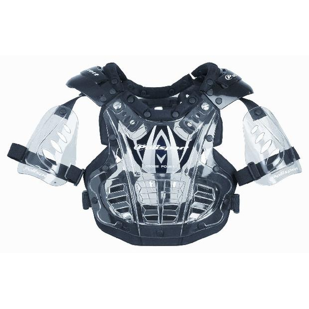 Chest Protector XP1 for small children clear-black-clear